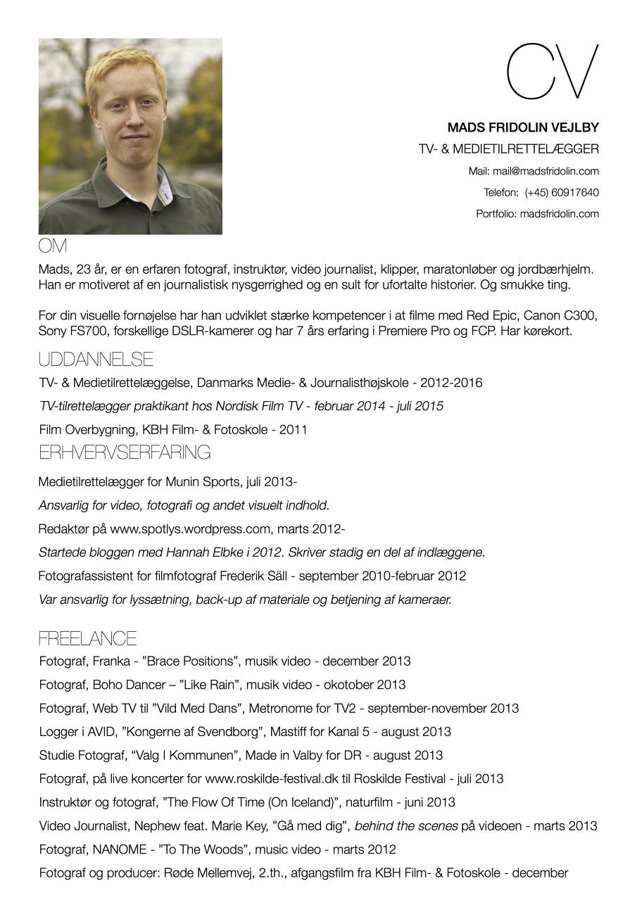 Resume Madsfridolin Dansk